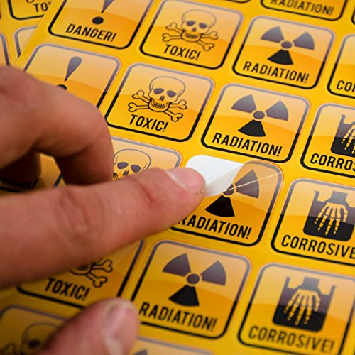 Car Decal Nuclear Radiation Warning Symbol Sign 4 Pack Hazard Radioactive Bumper Window Sticker 5x4 In