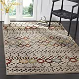 Safavieh Amsterdam Collection AMS108G Southwestern Bohemian Light Grey and Multi Area Rug (11′ x 15′) Review
