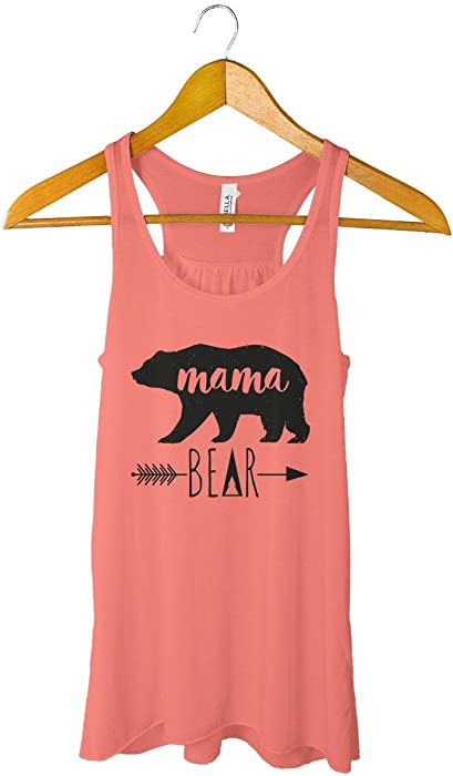 ac75dcb4e6e9b Mama Bear Tank Top Shirt Mother Clothing Mommy Tee Mom T at Amazon Women s  Clothing store