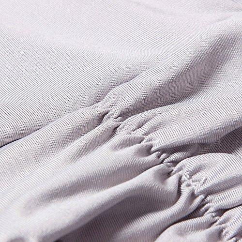 Beauty7 Robes De Soirée Taille Plus Des Femmes Bal Partie Gris Robe Maxi Formelle Sans Manches