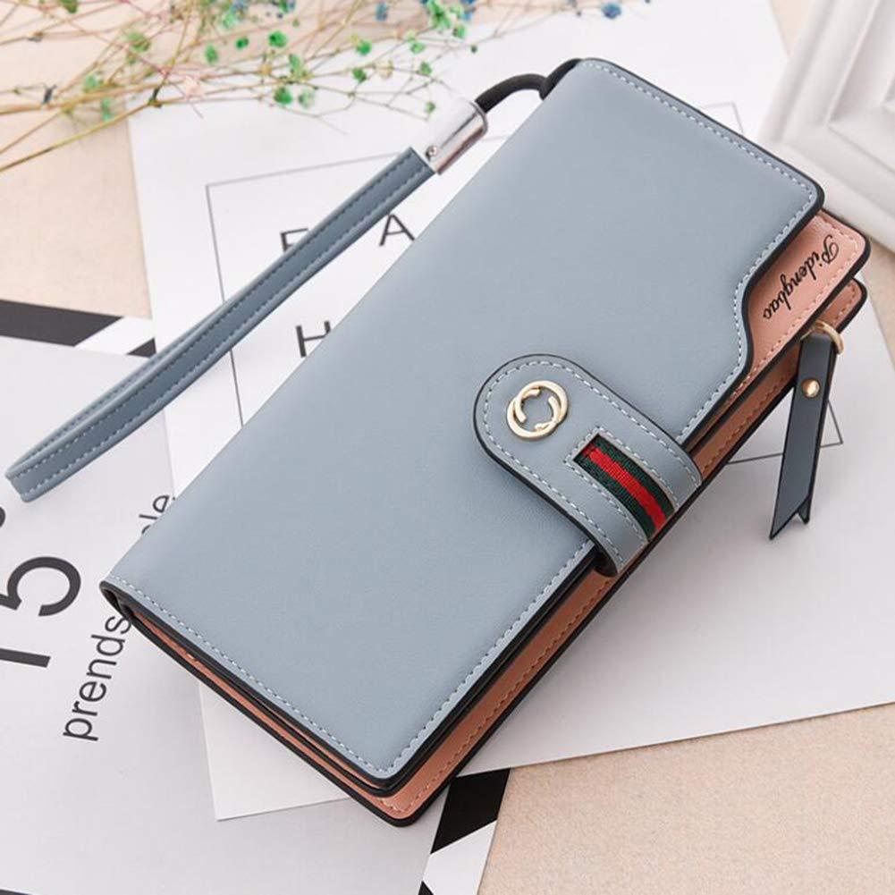 B 19.5x2.5x10CM Women's Wallet, MultiFunction Zipper Clutch Bag Mobile Phone Bag Casual Fashion Card Package Money Clip,C,19.5x2.5x10CM