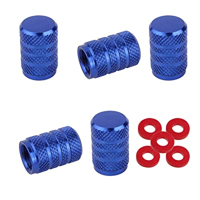 Winka Blue Round Car Tire Valve Stems Caps Wheel Tire Valve Stem Cap: Automotive