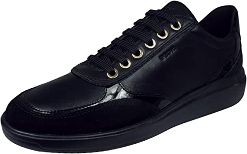 artillería compensar Manto  Geox D TAHINA Trainers Women Black Low top Trainers: Amazon.co.uk: Shoes &  Bags