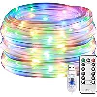 LE Cadena de Luces LED, 10m 100 LED 8 modos, USB Exteriores, Guirnalda Luces RGB…