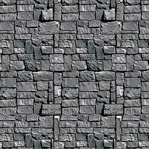 Pack of 6 Stone Wall Backdrop Insta-Theme Halloween Party Wall Decorations -