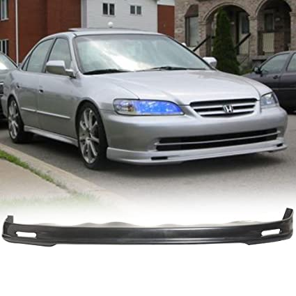 Front Bumper Lip Fits 1998-2002 Honda Accord 4 Door Sedan Model Black  Spoiler Splitter Valance Fascia Cover Guard Protection Conversion PP by