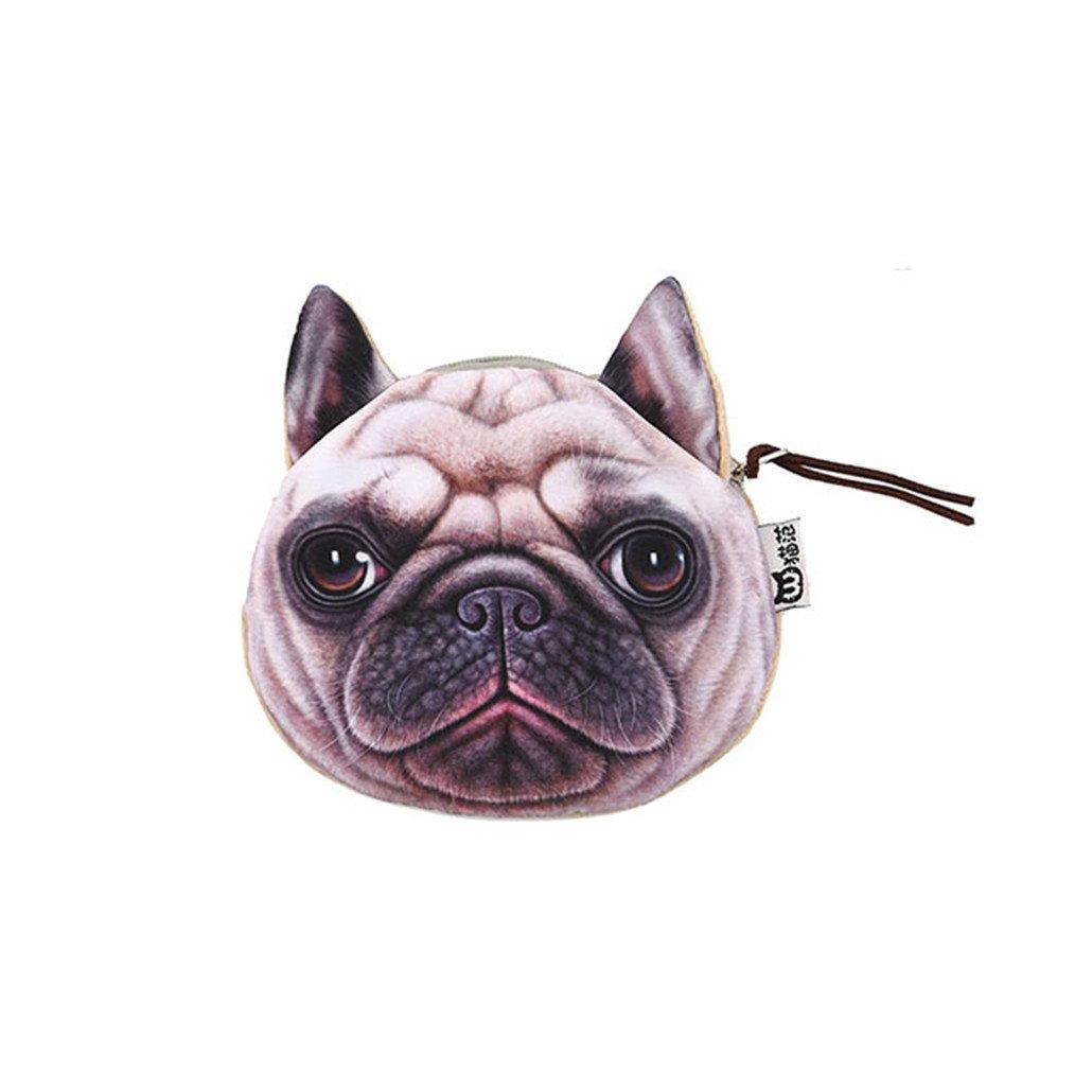 Chinget Niedlich Hund Form Mit Lanyard Geldbörse Geldtasche Polyester Geldbeutel Münzen Beutel Portmonee (Shapi Hund)