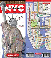 StreetSmart NYC Map Midtown Edition maps all top attractions including museums, major architecture, hotels, theaters, shopping destinations, Broadway theaters and the subway system for all of Manhattan at an immensely legible scale of 1:32,00...