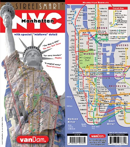 StreetSmart NYC Map Midtown Edition by VanDam-Laminated pocket city street map of Manhattan w/ all attractions, museums, sights, hotels, Broadway Theaters & NYC Subway map; 2019 Edition (Best Hotels In Times Square For Families)