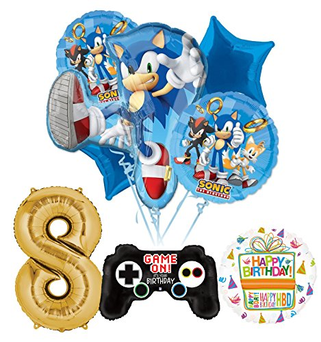 The Ultimate Sonic The Hedgehog 8th Birthday Party Supplies and Balloon Decorations