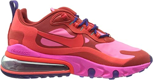 Amazon Com Nike Women S W Air Max 270 React Running Shoe Mystic Red Bright Crimson Pink Blast 5 Uk Road Running