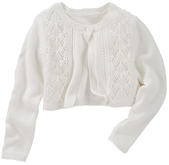 Amazon.com: Carter's Girls' White Cropped Cardigan Sweater (Size 5 ...