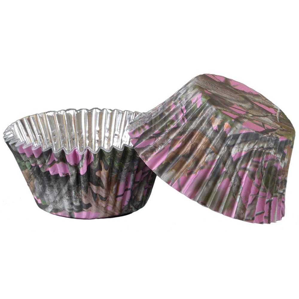Camo Cupcake Stand (Holds 24 Cups, sturdy, easy to assemble cardboard) Next Camo Party Collection by Havercamp