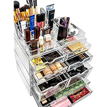 Great Sorbus Acrylic Cosmetics Makeup And Jewelry Storage Case X Large Display  Sets  Interlocking Scoop