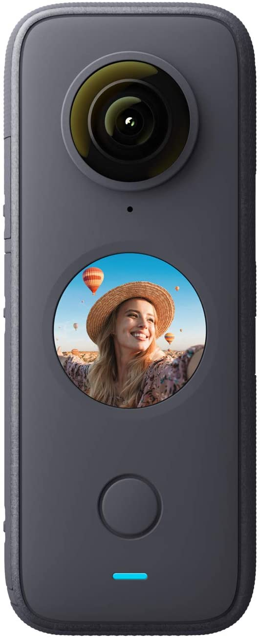 Insta360 One X2-5.7K Cámara de 360 Grados con estabilización, Resistencia al Agua IPX8, Efecto Selfie Stick Invisible, Pantalla táctil, Edición IA, Control por Voz