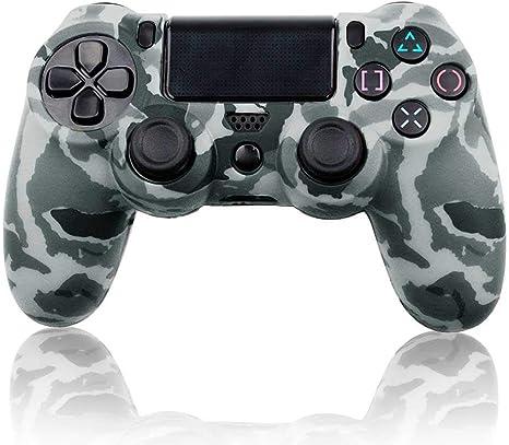 OcioDual Funda de Silicona Carcasa para Mando Sony PS4 PlayStation 4 Slim Pro Dualshock 4 Camuflaje Gris: Amazon.es: Videojuegos
