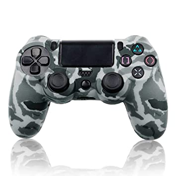 Funda Carcasa de Silicona Gris para Mando Sony PS4 Dualshock Play 4 Camuflaje