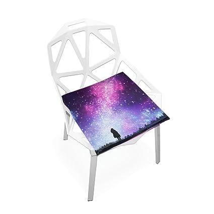 Amazon.com: Plao cojín de asiento castillo unicornio noche ...