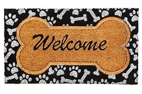 Evergreen Doggy Welcome Coir Mat, 16 x 28 inches - Love Door Mat