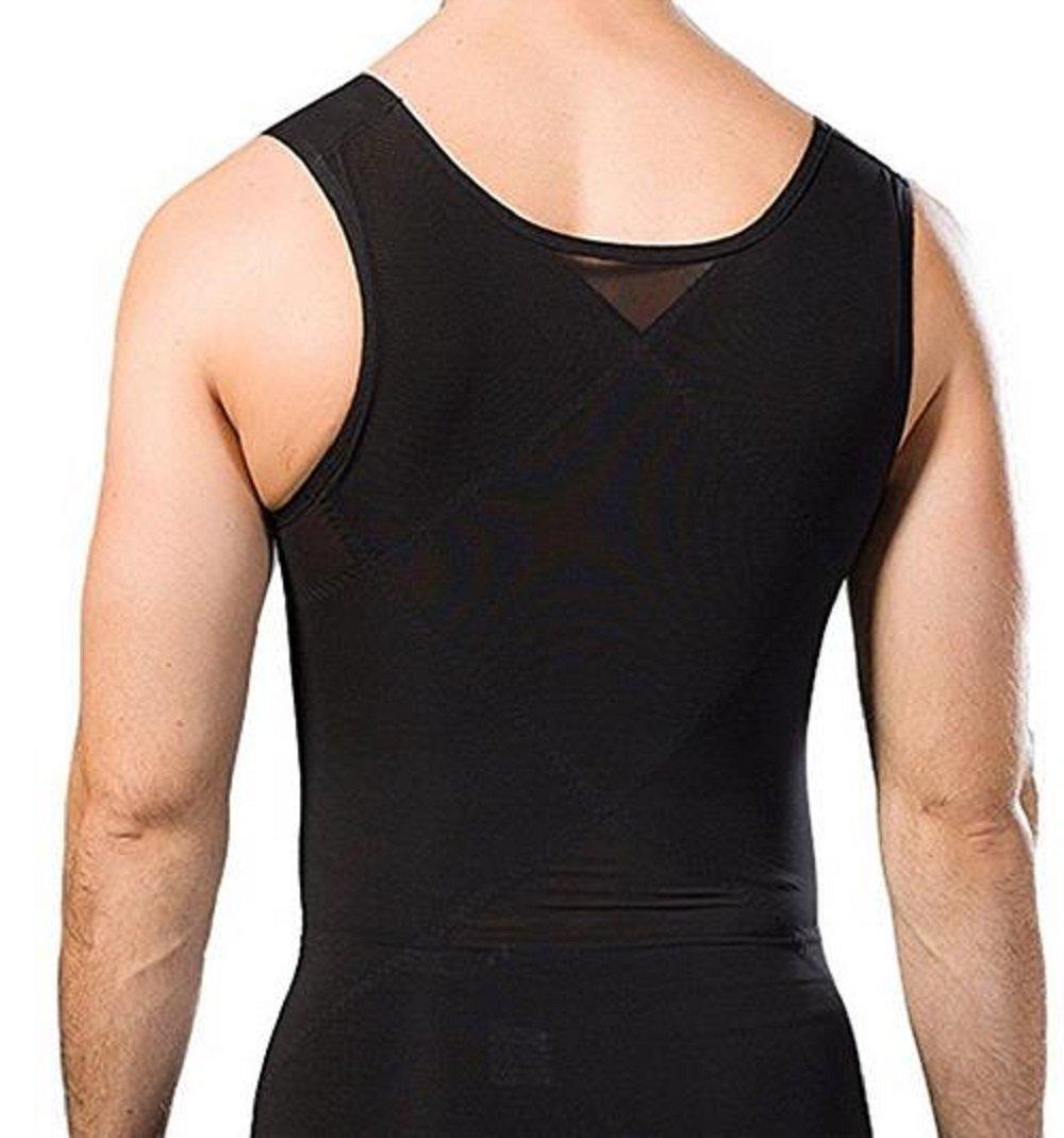 Gynecomastia Compression Shirt to Hide Man Boobs Moobs Shapewear (black, M)