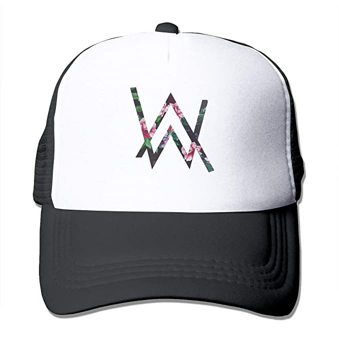 c1fac5153e515 Alan Walker Logo Unisex Men s Trucker Hat Mesh Snapback Cap for Women Black