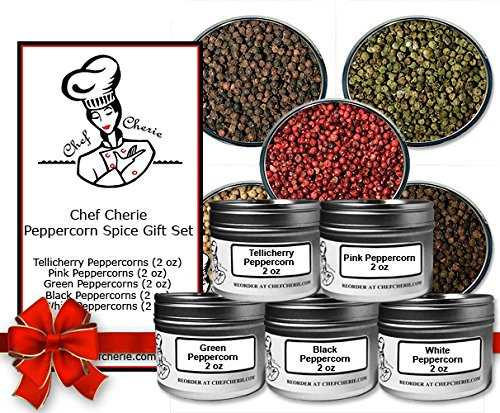 Chef Cherie's Peppercorn Spice Gift Set - Contains 5 - 2 oz. Tins