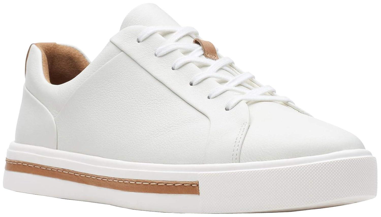 676512c3091fd CLARKS Womens Un Maui Lace Sneaker, White Leather, Size 9 Wide