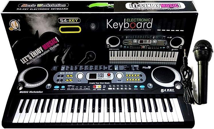 LGFB Teclado electrónico para niños de 54 Teclas de Pianos ...