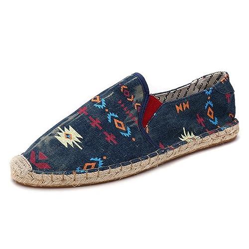 Hombres Zapatos Primavera Verano Moda Transpirable Tejido Alpargatas Hombres Casual Zapatos Mocasines CóModos Mocasines: Amazon.es: Zapatos y complementos