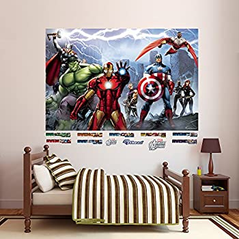 Fathead Avengers Assemble Mural Real Big Wall Decal Part 22