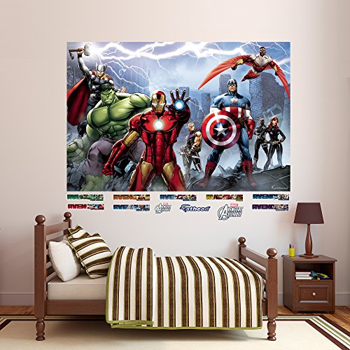 FATHEAD Avengers Assemble Mural Real Big Wall Decal