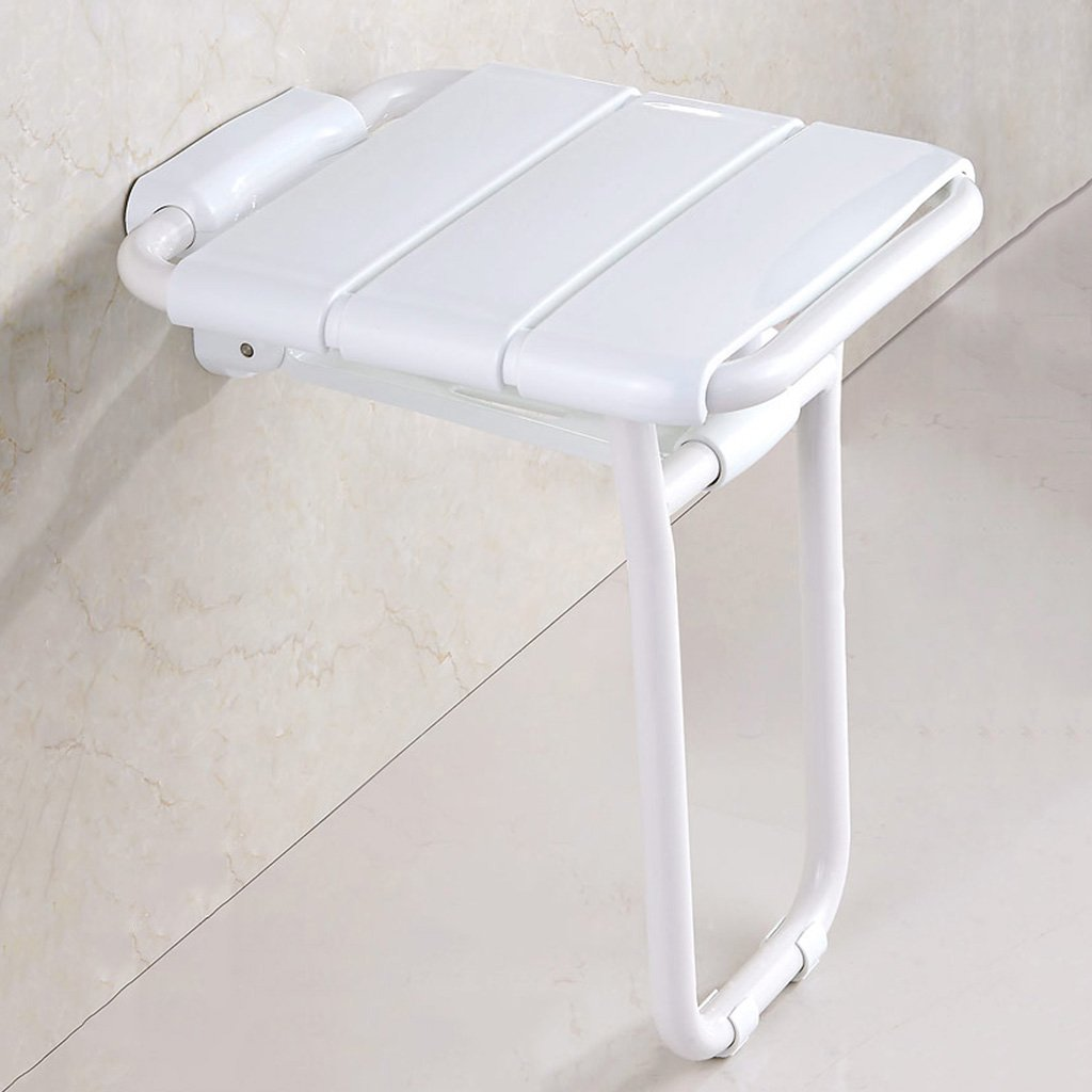 【コンビニ受取対応商品】 WSSF- シャワーチェア バスルームトイレ老人障害者折り畳み式シャワーシート椅子壁掛けエントランスコリドー滑り止めバススツールカラー、36 :* 40.7* 48cm 白 (色 白) : 白) 白 B07B7L5YW7, Happy Smiles:bd89f421 --- conffianca.com