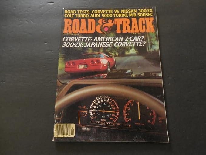 Road Track Jan 1984 Corvette vs Nisan 300-ZX; Colt Turbo