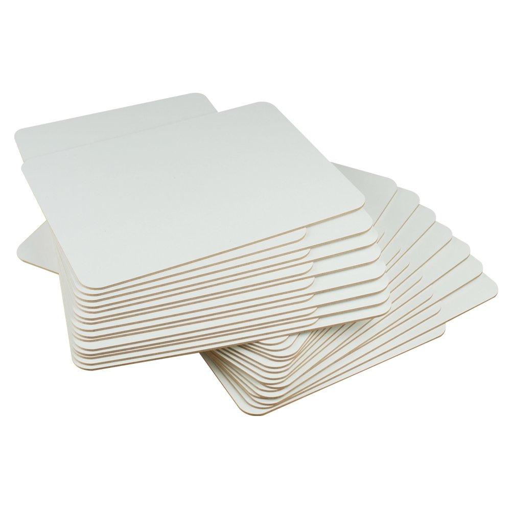 30 St/ücke 10 x 20 cm, 12 pizarras blancas, ideal para profesores, estudiantes, clases, presentaciones, trabajo de oficina Pizarra blanca Lockways