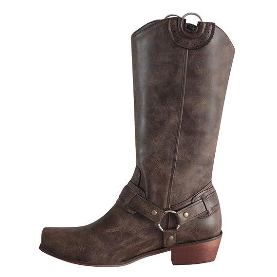elegante en estilo proveedor oficial gran descuento Luckycat Botas de Cuero Botas Mujer Moteras Bota Zapatos de ...