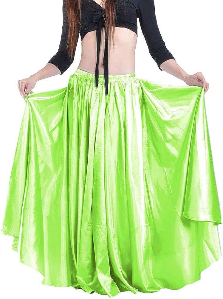 hibote Falda de Danza del Vientre Satén Gasa para Mujer Bailarina ...