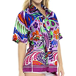 LA LEELA Likre Bohemian Tops Memorial Day Fathers Day Prime Deals Lightning Deals Of The Day Vintage anthemion Tacky Violet XXL