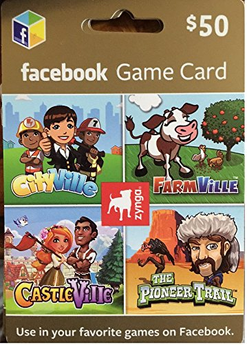 Zynga Facebook  50 Gift Card