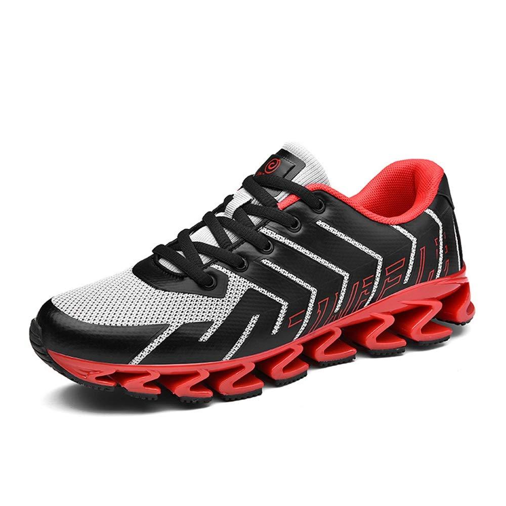Qiusa Herren Atmungsaktive Schuhe Weiche Sohle Rutschfeste Haltbare Stoßdämpfende Trainingsschuhe (Farbe   Rot, Größe   EU 39)