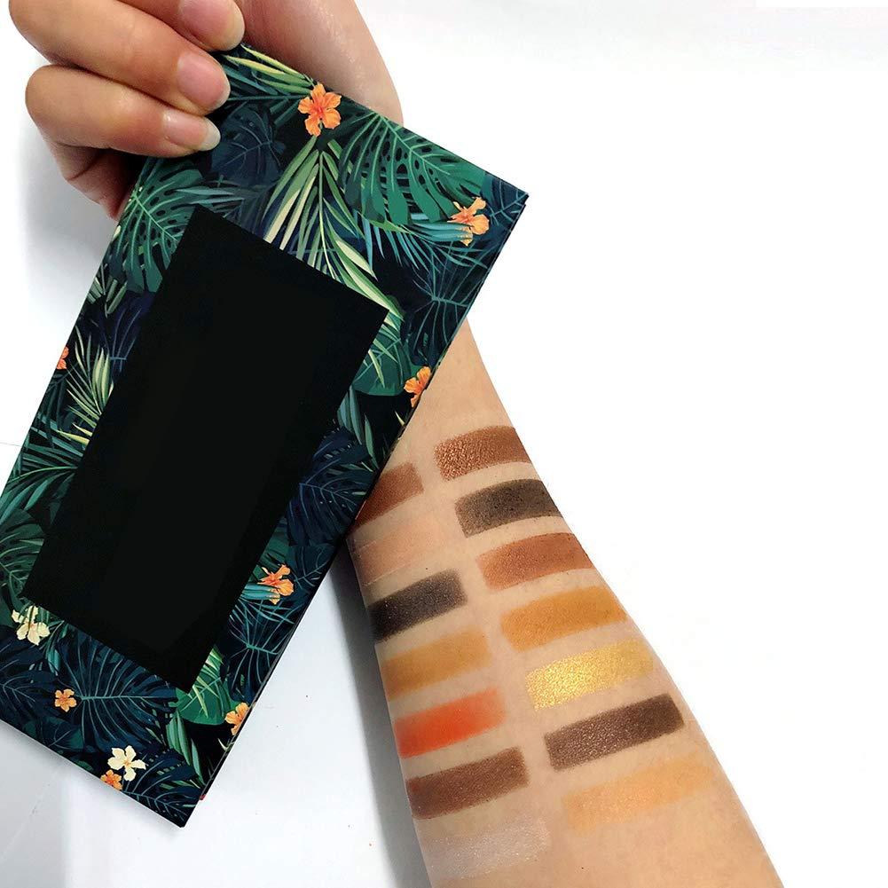 ZYCX123 14 Colores de Sombra de Ojos Mate de la Paleta y nacarado Textura Tropical Mujeres y ni/ñas Muy asequible del Ojo