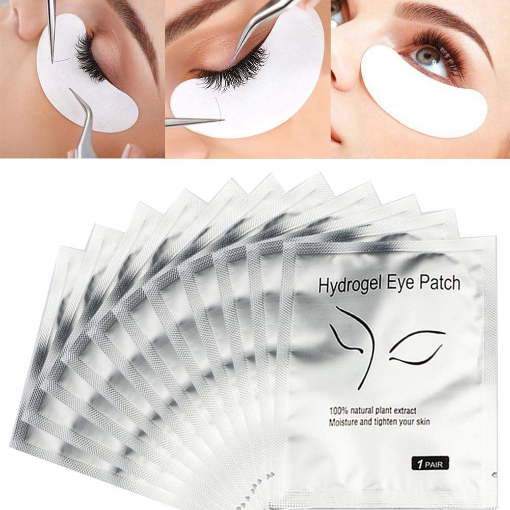 25 Pairs Eye Gel Pads,Eyelash Grafting Eyelash Pad Eyelash Extension Under Eye Patches for DIY False Eyelash Extension Makeup Supplies, Eye Mask Beauty Tool Gentman