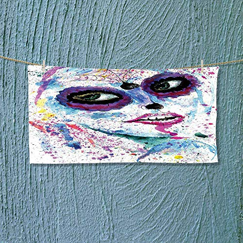 Nalahome Fast Dry Towel Grunge Halloween Lady with