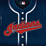 """LicensedMLB Cleveland Indians Party Luncheon Party Napkins Tableware, Paper, 6"""" x 6"""", Pack of 36"""