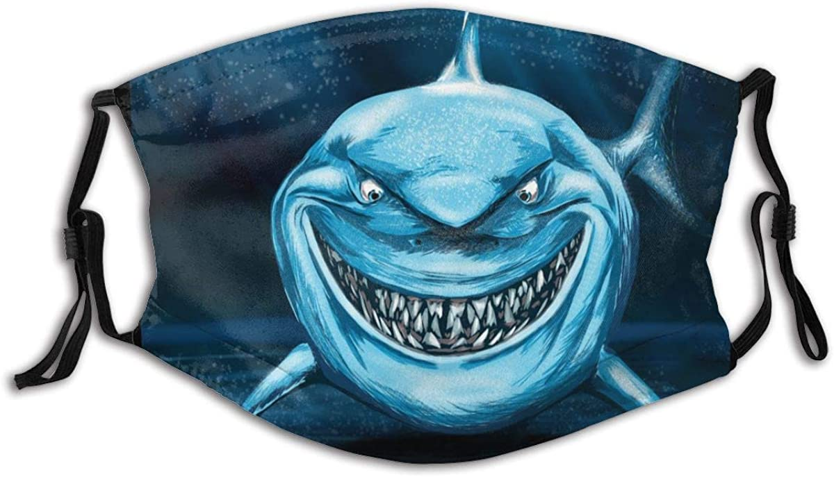 Atrocious Shark Face Scarves, Washable Fashion Covers Windproof Anti-Dust Custom Reusable Graphic Cover Funny Cute Printed For Outdoor