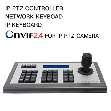 Network Keyboard LEFTEK,IP Keyboard 4D IP PTZ Controller with LCD monitor  display Onvif Protocol KeyBoard For IP PTZ Camera Compatible with