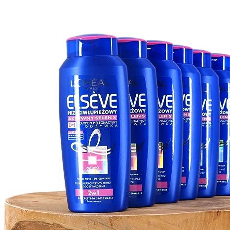 (100ml=4,58€) 6x200ml Loreal Paris Elvital Elseve 2in1 Anti-Schuppen Dandruff Selenium S Aktiv Shampoo & Spülung Conditioner