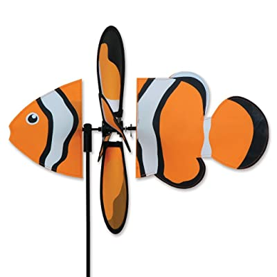 Ocimocylo Clownfish Petite Garden Stake Wind Spinner by Premier Kites & Designs-16``w ;#by:martha84 : Garden & Outdoor