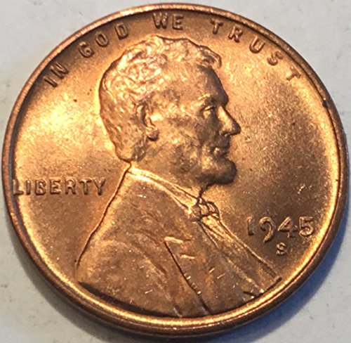 1945 S Lincoln Wheat Cent Penny Nearly Choice Brilliant Uncirculated