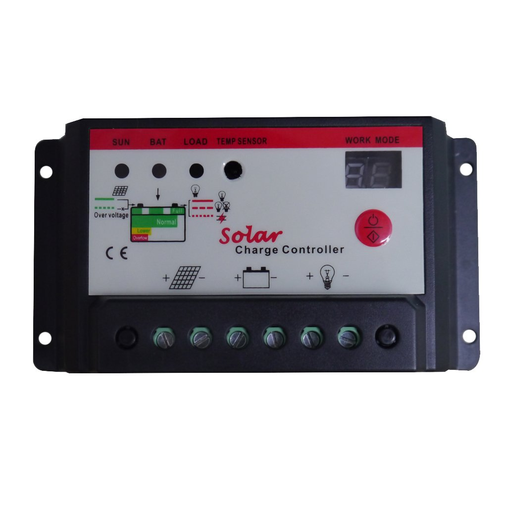 petsola Auto 6V/12V Or 12V/24V Solar Panel Regulator Charge Controller 10A 20A 30A Pick - 10A