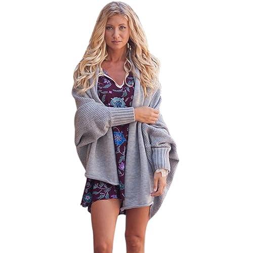 WanYang Mujeres Punto Cárdigan Suéter Manga Larga Jerséis Cárdigans Coat Jacket Suéters